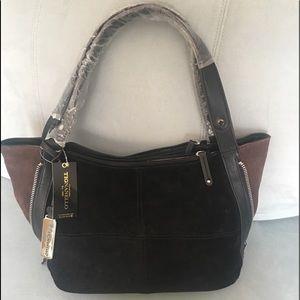Gorgeous Suede expandable Bag